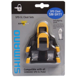 Shimano SM-SH11 SPD-SL Yellow Cleat Set With Hardware: 6 Degree Float