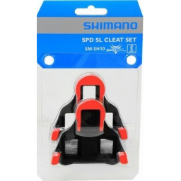 Shimano SM-SH10 SPD-SL Red Cleat Set With Hardware: 0 Degree Float
