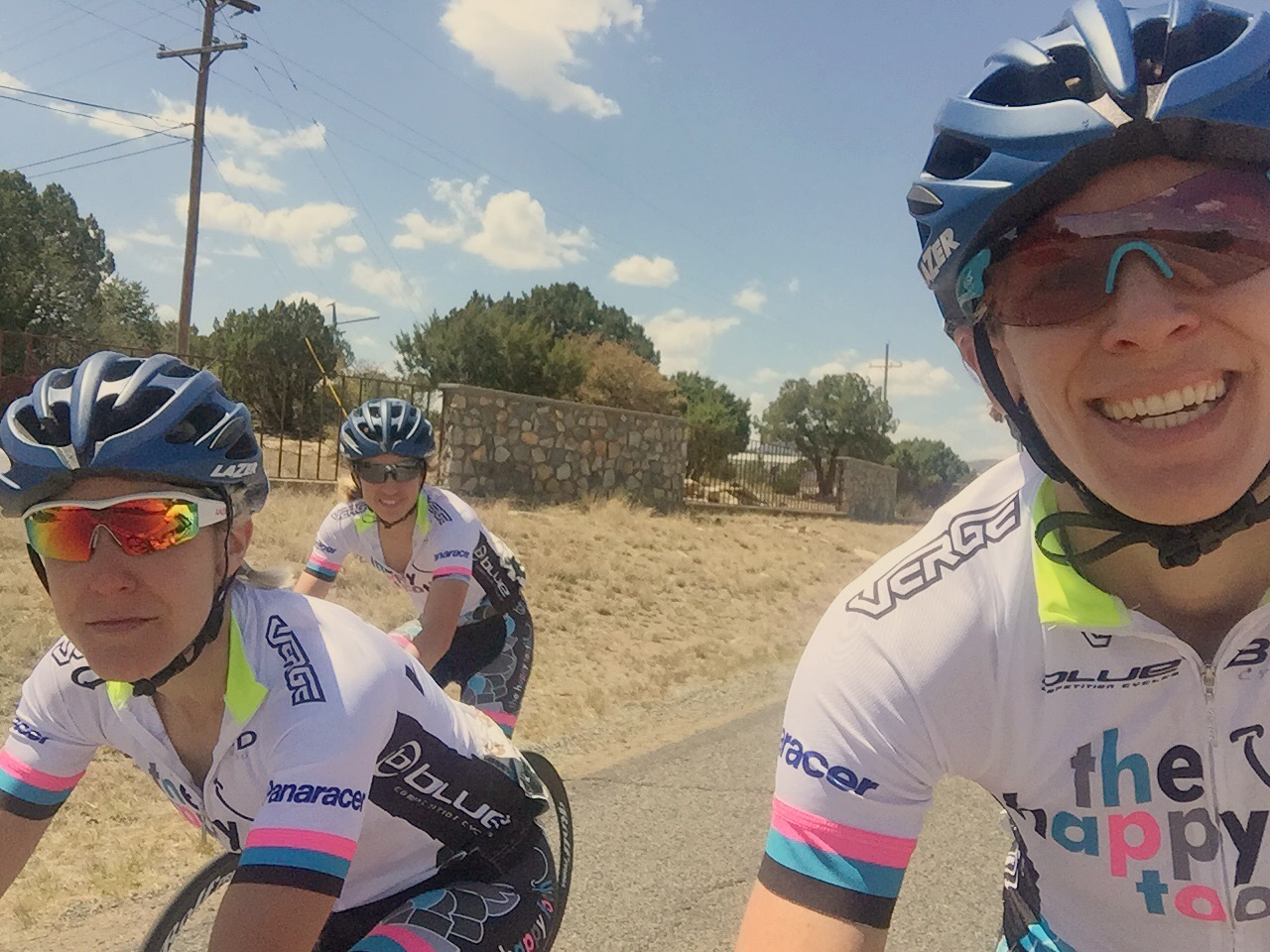 Amy Cameron, Dawn Andres, and Jen Luebke after stage 2